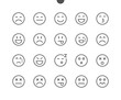 Emotions UI Pixel Perfect Well-crafted Vector Thin Line Icons 48x48 Ready for 24x24 Grid for Web Graphics and Apps with Editable Stroke. Simple Minimal Pictogram