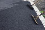 road works tarmac asphalt - 183603863