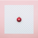 Red Christmas decoration ball. Happy New Year concept
