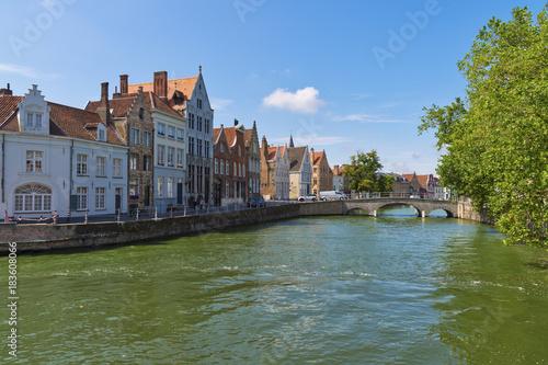 Fotobehang Brugge Fluß Reie
