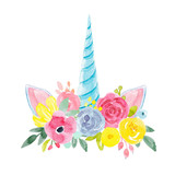 Watercolor floral composition - 183610409