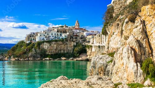 Fotobehang Freesurf Beautiful coastal town Vieste in Puglia. Italian summer holidays