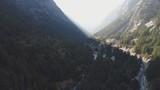 Inde Uttarakhand Village de Gangotri vue du ciel