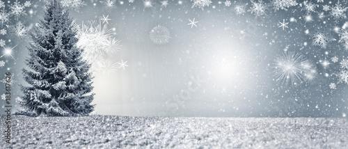 Deurstickers Wanddecoratie met eigen foto Schöner Weihnachtsbaum