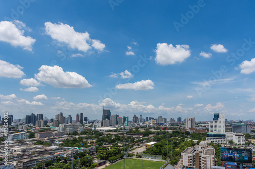 Cityscape with building in city of Bangkok © pongmoji