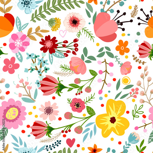 Floral pattern vector - 183626223