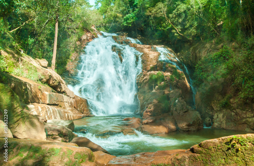 Pongour waterfall. A famous waterfall in Vietnam. - 183632249