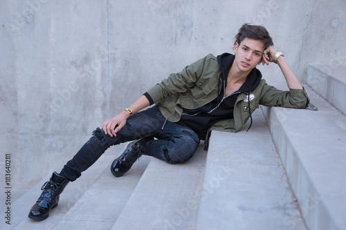 Plakát Handsome young stylish man