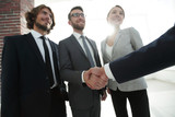 business leader shaking hands with the investor - 183641680