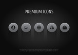 Set Of 5 Search Icons Set.Collection Of Announcement, Engine, Guest And Other Elements. - 183642657
