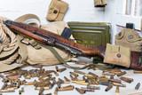 rifle and U.S. military equipment  of World War II - 183652077