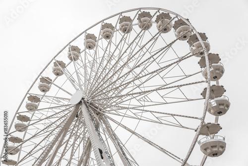 Aluminium Amusementspark White Ferris wheel.