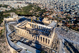 Aerial view of Parthenon and Acropolis in Athens,Greece - 183658819