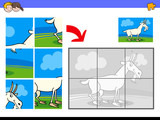 jigsaw puzzles with goat animal character - 183661228