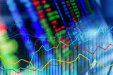 financial stock market graph chart of stock market investment trading screen - 183661658