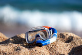 Mask for swimming on the beach sand. - 183664002