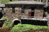 Asturias, España. El viejo molino de piedra junto al rio. The old stone mill next to the river - 183667450
