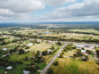 Aerial of the Small Rural Town of Sommerville, Texas Next in Between Houston, and Austin
