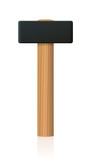 Sledgehammer with large metal head - upright standing basic hand tool with wooden handle - isolated vector illustration on white background. - 183673625