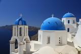 Santorini, widok na morze, cerkwie - 183675855