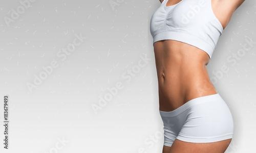 Plexiglas Fitness Woman beauty body.