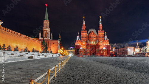 Plexiglas Moskou Red square by night in Moscow