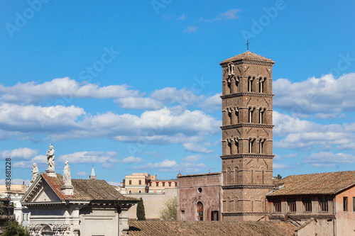 Fridge magnet old ruins at roman forum in rome