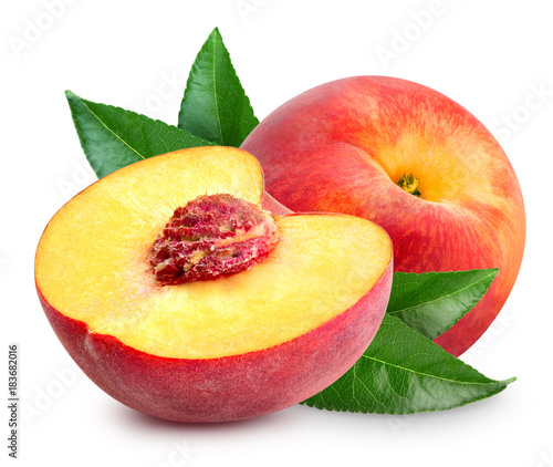 Peach fruit slice - 183682016