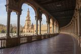 Spain Square, Plaza de Espana, Seville, Spain. View from porch - 183687843