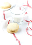 Shortbread with a glass of milk - 183688455