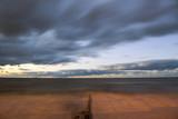beautiful cloudy sky over the sea, long exposure