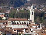 Aerial view of Albino city, Bergamo, Italy - 183705429