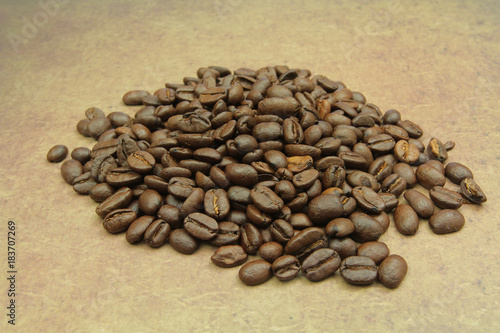 Plexiglas Koffiebonen café