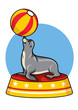 cartoon seal circus