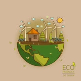 Vector illustration of eco earth - 183712230