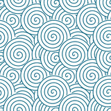 Spirals and swirls abstract geometric vector seamless pattern. - 183723066