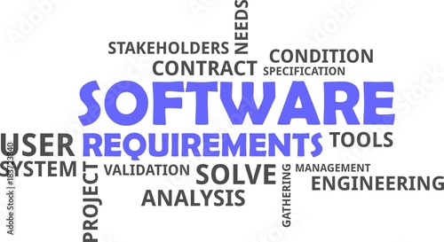 Word Cloud Software Requirements Buy Photos AP Images DetailView - Software requirements gathering tools