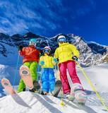 Snow in winter season, mountains. South Tirol, Solda in Italy. - 183729404