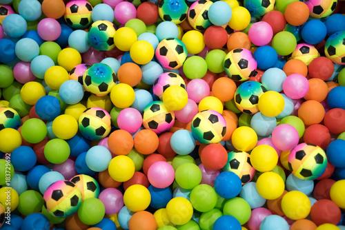 Foto op Aluminium Amusementspark Colorful plastic balls playground indoors
