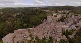 Aerial, beautiful town Sorano near Grosseto in Tuscany, Italy - 183734030