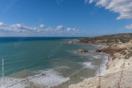 Poster Groen blauw Cyprus Coastline