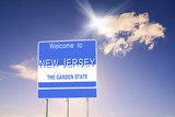 New Jersey, Welcome road sign - 183740678