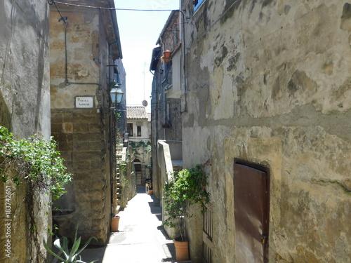 Staande foto Smal steegje Pretty Alley of Pitigliano, Tuscany, Italy