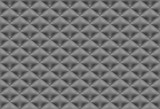 Seamless pattern black quilted fabric