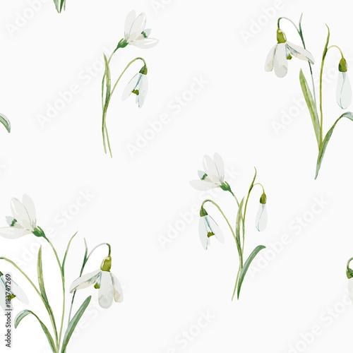 Fototapeta Watercolor floral vector pattern