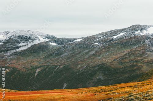 Aluminium Khaki Mountains scandinavian Landscape Travel scenery autumn colors
