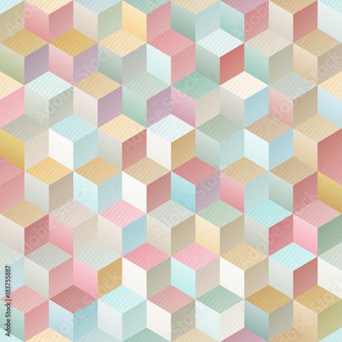 Vintage geometric seamless pattern - 183755887