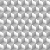 Monochrome cube seamless pattern