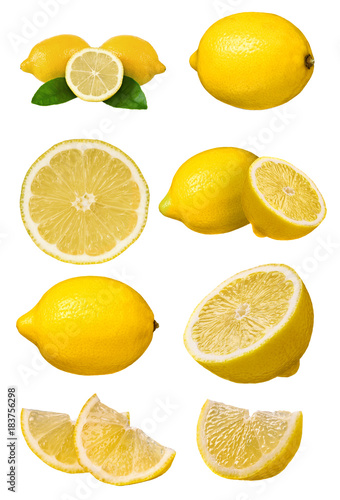 Poster Isolated lemons set