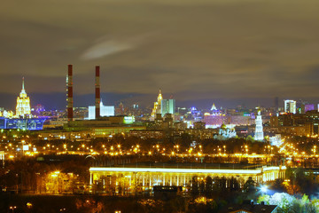 visible on the night Moscow
